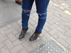 Aaminah Asghar - Ripped Jeans with Edgy Shoes