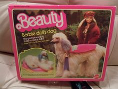 It only has the dog, the leash, the rhinestone collar, and the cape thing, oh and the instructions :D