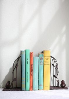 What Would Snow White Wear? Bird Cage Bookends.