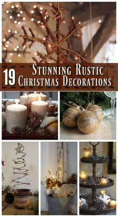19 Stunning Rustic Christmas Decorating Ideas - Here's a collection of Rustic Christmas Decorations: Brown and earthy are not your usual Christmas theme, but this year, try something new with the rustic mood that wood and nature provide. It will make your …