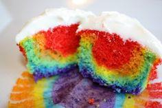 Rainbow Cupcake Recipe White Chocolates, Kids Parties, Autism Awareness, Kids Lunches, Double Rainbows, Cupcakes Recipe, Rainbows Cupcakes, Minis Cake, Rainbow Cupcakes