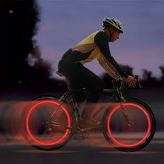 Single Induction Vibration Function - This LED wheel light is activated by motion, lights turn on when moving; The LED value bike light is a Bicycle Spokes, Bicycle Wheel, Bicycle Tires, Recumbent Bicycle, Led, Inflatable Kayak, Worlds Of Fun, Car Accessories, Cycling Accessories