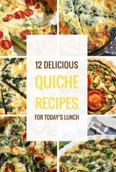Four Kitchen Decorating Suggestions Which Can Be Cheap And Simple To Carry Out 12 Delicious Quiche Recipes For Lunch Healthy Holiday Recipes, Vegetarian Recipes, Cooking Recipes, Yummy Recipes, Healthy Food, Simple Recipes, Eating Healthy, Drink Recipes, Free Recipes