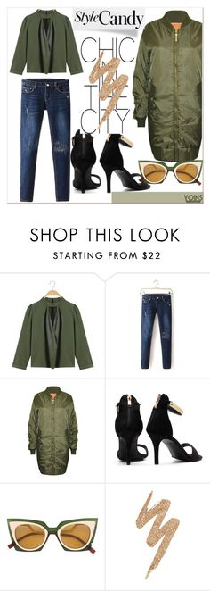"""GREEN ENVY x YOINS"" by gigi-lucid ❤ liked on Polyvore featuring Fendi, Urban Decay, yoins, yoinscollection and loveyoins"