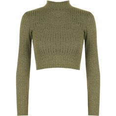 Darcie Turtle Neck Ribbed Crop Top (22 CAD) ❤ liked on Polyvore featuring tops, sweaters, green, white crop top, white long sleeve sweater, turtleneck sweater, turtleneck crop top and cropped sweater