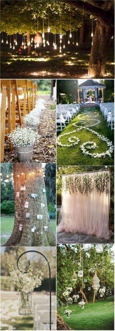 Elegant outdoor wedding decor ideas on a budget 31