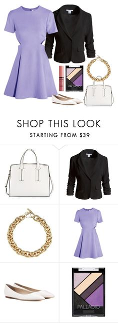 """Preppy Purple"" by blackest-raven ❤ liked on Polyvore featuring French Connection, Sans Souci, Amanda Wakeley, Elizabeth and James, Jimmy Choo and NYX"