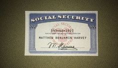 We make an extremely high quality front photo of social security card. Comes complete with your custom signature