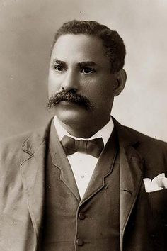African American Man with mustache, via Flickr.
