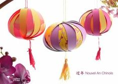 DIY pour le Nouvel An chinois - Marie Claire - Table Settings New Year's Crafts, Diy And Crafts, Crafts For Kids, Chinese New Year Decorations, New Years Decorations, Deco Nouvel An, Diy Paper, Paper Crafts, Lantern Crafts