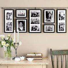 The Funky Monkey: Red Envelope: Hall Gallery Frame Set Photo Gallery Hallway, Gallery Wall, Gallery Frame Set, Decoration Photo, Hanging Pictures, Display Pictures, Diy Home Decor Projects, Home And Deco, Photo Displays