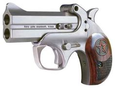 Bond Arms Derringers. Want one with all the interchangeable barrels.Find our speedloader now!  http://www.amazon.com/shops/raeind