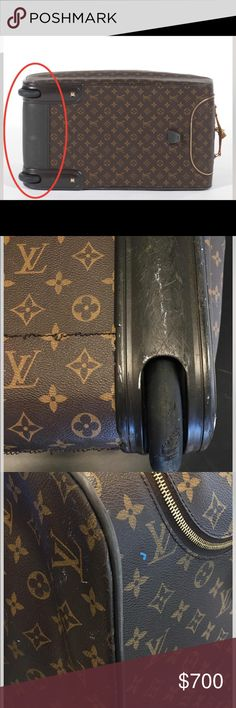 Vintage Louis Vuitton Rolling Bag Last item being sold on Poshmark!!! Please see previous pictures posted to profile. Pictures listed are flaws that Poshmark found on the bag.                                                                      Showing bag with all flaws & marks.                      Willing to accept offers, but no trades                    Great for travel or vacation                                     Feel free to ask questions…
