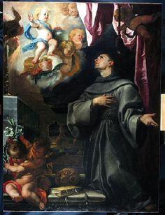 Claudio Coello-La visión de san Antonio de Padua, óleo sobre lienzo, 162 x 123 cm, Rennes, Musée des Beaux-Arts, depositado en el Musée Goya de Castres. Segunda mitad del siglo XVII