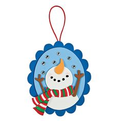 Snowing Snowman Ornament Craft Kit - OrientalTrading.com