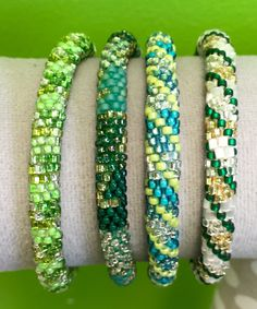 Lily & Laura Bracelets - Greens