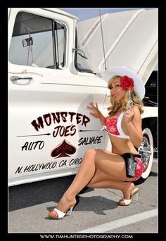 hot rods and girls | Hot Rod Pinup Model Kristabelle | MyRideisMe.com