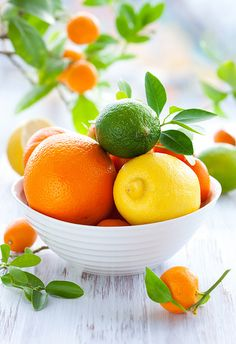 """""""All citrus, from limes to tangerines, are chock-full of vitamin C, fiber, and small amounts of other nutrients and disease-fighting chemicals. It's the C that makes citrus a Superfruit, says Glassman, because this vitamin counters the effects of sun damage, regulates oils glands, and can even prevent age spots."""""""