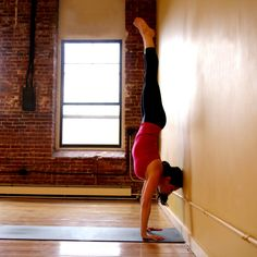 Handstand Against the Wall