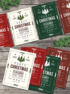 Christmas Flyers Party Rustic. Flyer Templates. $6.00