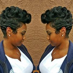 STYLIST FEATURE| Love this #mohawk pixie cut ✂️styled by #BatonRougeStylist @toshadenise ❤️ So fly #VoiceOfHair ========================= Go to VoiceOfHair.com ========================= Find hairstyles and hair tips! =========================