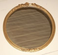antique GESSO framed mirror SHABBY CHIC cottage by COTTAGEGOLD, $70.00