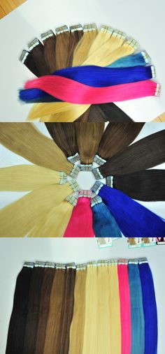Tape in hair extensions and how to install them Email: romanticyuqi@wigshair.com