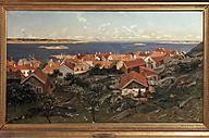 Gerhard Munthe (Norway, 1849-1929): View of Nevlunghavn