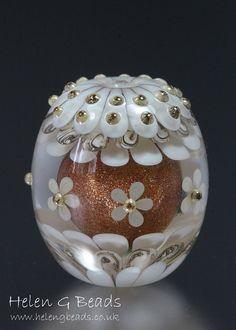 Carousel Lampwork Focal Bead Handmade in the UK SRA by helengbeads