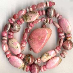 "RHODOCHROSITE Beads~Rounds, Pendant, Ovals Rounds Argentina 16.5"" str. Genuine"
