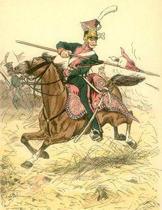 The Berg Regiment of Light Horse of Berg by Herbert Knötel Best Uniforms, German Uniforms, Empire, War Of 1812, French Revolution, Napoleonic Wars, Berg, Military History, First World
