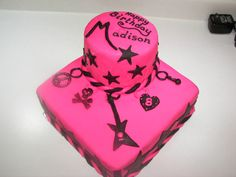 Rock and Roll charm cake