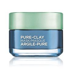 Pure Clay Clear & Comfort seaweed clay mask by L'Oréal Paris. Gently cleanses, and captures impurities for all skin types.