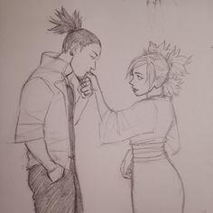 A ShikaTema sketch #naruto
