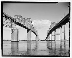 Old Cooper River Bridge, Charleston, SC.  I felt the ground shake 8 miles away when it was broken down in 2005.
