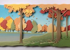 by Carlos Meira Paper Toy, 3d Paper Art, 3d Paper Crafts, Paper Artwork, Craft Stick Crafts, Fall Crafts, Diy And Crafts, Arts And Crafts, Kirigami