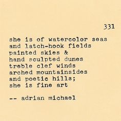 Blinking Cursor Series No. 331 | She Series No. 7 #adrianmichael #typewriter #poetry #fineart
