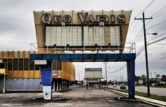Quo Vadis Theater on Wayne Rd. in Westland, Michigan, now closed, photo by Detroit Liger, via Flickr