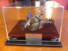Chancellors Spur Trophy for annual winner between football rivals Texas Longhorns & Texas Tech Red Raiders.