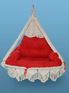 LOVE CHAIR HAMMOCK Swing  Hand Made  Cotton  by TURKISHAMMOCKS, $370.00
