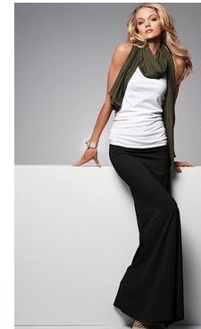 Black maxi with white tank - part of my weekly wardrobe staple