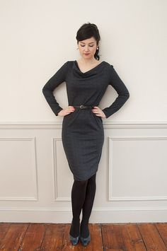 Share with:If you want to learn to sew with jersey, this pattern is the perfect introduction. A stylish jersey dresswith an interestingcowl neckline, it ticks a lot of our boxes: simple to sew and easy to wear! The constructionis as straightforwardas you can get: a front piece, back piece and a sleeve piece. That's all …