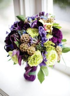 wedding bouquet flowers, purple green wedding bouquet, bridal bouquet, add pic source on comment and we will update it.