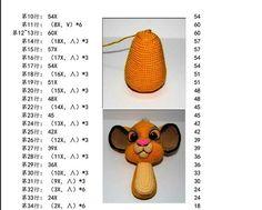 Simba Discussion sur LiveInternet - The Russian Online Diaries Service Crochet Mouse, Crochet Unicorn, Crochet Food, Diy Crochet, Crochet Dolls, Crochet Doily Patterns, Crochet Animal Patterns, Stuffed Animal Patterns, Russian Crochet