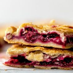 Strawberry blackberry pie with an all butter flaky pie crust feeds a crowd! Free form is pie assembled and baked on a baking sheet!