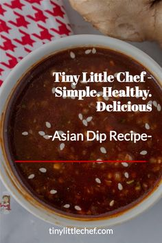 Asian Dip Asian Chicken Lettuce Wraps, Beef Skewers, Asian Beef, Chili Garlic Sauce, Low Sodium Soy Sauce, Little Chef, Sauce Recipes, Dairy Free, Vegetarian