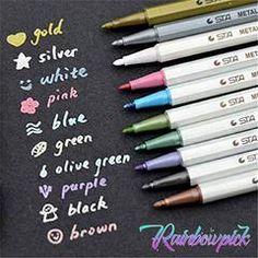 Metal Waterproof Paint Marker Pen – Rainbowpick