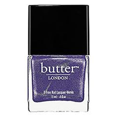 butter LONDON Nail Lacquer butter LONDON Nail Lacquer in Giddy Kipper - opaque indigo shimmerTrout Pout - opaque cantaloupe #sephora