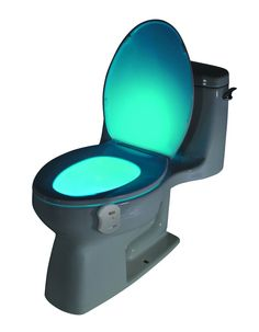 The GlowBowl Motion Activated Toilet Nightlight will transform ANY toilet into a nightlight. No more missing your target or stumbling around in the dark!