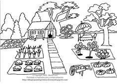 Resultado De Imagen Para Huerta Organica Dibujos Para Imprimir Dibujos Para Imprimir Colorear Gratis Dia Del Campesino